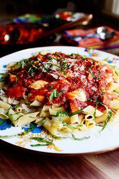 Chicken Mozzarella Pasta - can substitute sausage instead of Chicken.