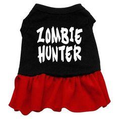 Zombie Hunter Screen Print Dress Black with Red XXXL (20)