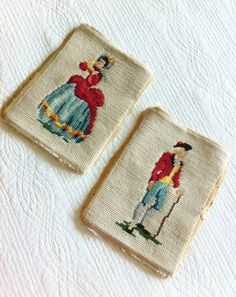 Vintage Romantic Home Needlepoint Lady in Gown by OlivesandDoves, $61.00