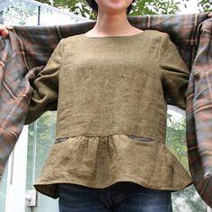 [Envelope Online Shop]Peplum blouse kit (pattern and fabric)