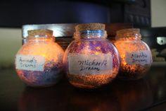 Glowing Dream Jar Personalized + Inspired by Roald Dahl BFG Gift For Dreaming Hearts Bfg Dream Jars, Bfg Movie, James And Giant Peach, Sparkling Lights, Sweet Stories, Family Movie Night, Potion Bottle, Votive Holder, Roald Dahl