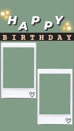 Happy Birthday Template, Happy Birthday Frame, Happy Birthday Posters, Birthday Posts, Birthday Frames, Happy Birthday Wallpaper, Friend Birthday, Birthday Captions Instagram, Birthday Post Instagram
