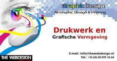 TheWebDesign Printing is gespecialiseerd in het breedste assortiment #grafisch #ontwerp en #printdiensten in #Nederland. Graphic Design Print, Web Design, Printing, Design Web, Website Designs