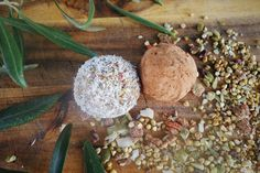 RAW BLISS BALLS  - ENERGY HIT   Mix Love SuperBlend with 4 Medjool dates and 1 Teaspoon of Coconut Oil + 1 Teaspoon of Honey. Instant energy hit and delicious!
