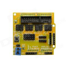 Sensor Shield V5.0 Expansion Board for Arduino - Yellow. Expand digital and analog port of Arduino Uno; Interfaces: IIC, servo control port, Bluetooth port, SD card slot, APC220 RC module port, ultrasonic sensor port and 12864 S / P port; Easy and convenient to use.. Tags: #Electrical #Tools #Arduino #SCM #Supplies #Boards #Shields