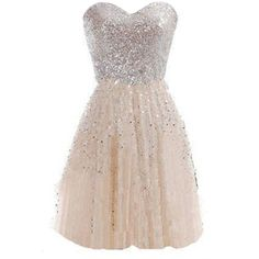 Nude Strapless Sweetheart Sequin Pleated Skater Party Dress (87 BRL) ❤ liked on Polyvore featuring dresses, pleated dress, sequin dress, skater dresses, strapless sweetheart dress and strapless sequin dress