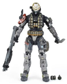 "Halo Reach Series 1 Spartan EMILE Noble Four 5.25"" Action Figure McFarlane Mint #McFarlaneToys"