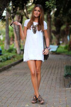 Dress: Natura (temporada verano)  Necklace: Blanco (old)  Bag: Natura (temporada verano)  Shoes: Blanco  Bracelet: Coqueta Complementos