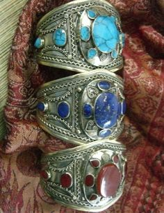 Traditional Afghan jewelry.