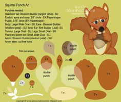 punch art for cards or layouts - Squirrel