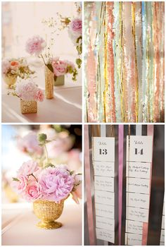 pastel perfection: an amalgam of ultra-glam texture and shape | real wedding: stephanie + glenn! | bows and arrows #wedding #palette #inspiration