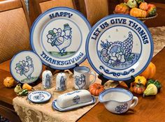 Thanksgiving Stoneware Serving Pieces | Hadley Pottery. Order by 11/4 to have in time for Thanksgiving.