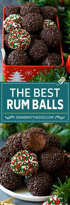 Rum Balls Recipe The Effective Pictures We Offer You About Holiday Recipes desserts A quality New Year's Desserts, Holiday Cookies, Holiday Baking, Christmas Desserts, Christmas Dessert Recipes, Christmas Chocolates, Christmas Treats For Gifts, Christmas Recipes For Kids, Plated Desserts