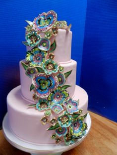 bright flowers wedding cake wwwcheesecakeetcbiz wedding cakes charlotte nc