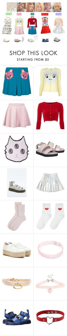 """""""RED VELVET - ICE CREAM CAKE❤️💛💚💙💜"""" by vvvan99 ❤ liked on Polyvore featuring Meadham Kirchhoff, ONLY, Hobbs Invitation, Valfré, Office, Dr. Martens, Johnstons of Elgin, Miu Miu, I Still Love You NYC and Hot Topic"""