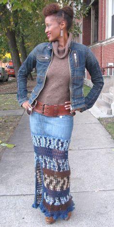 Double Stitch Remix Skirt
