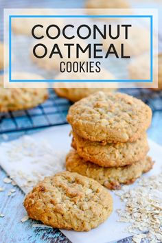 If your headed out to a BBQ or a picnic these easy Coconut Oatmeal cookies are perfect to take. They are super portable and everyone will love them! Oatmeal Coconut Cookies, Oat Cookies, Healthy Cookies, Cookies Et Biscuits, Crisco Cookies, Quick Cookies, Making Cookies, Crazy Cookies, Oatmeal Cake