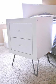 Expedit wall shelf into nightstand | IKEA Hackers Clever ideas and hacks for your IKEA
