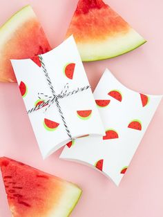 Make a set of watermelon pillow boxes as party favors for your summer shindig.