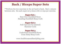 Back and Biceps Super Sets- Every Thursday Upper Body Workout Routine, Back And Bicep Workout, Back And Shoulder Workout, Flat Tummy Workout, Biceps Workout, Back And Biceps, Body Workouts, Weight Workouts, Fitness Workouts