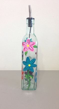 Daisy Olive Oil or Soap Bottle by GulfLifebyNichole on Etsy