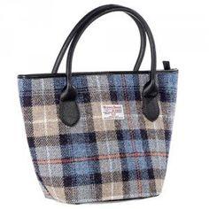 Tartan Harris Tweed Tote Bag