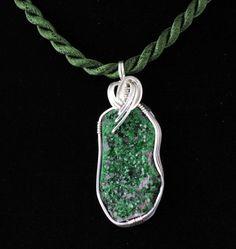 Uvarovite Wire Wrapped Pendant Listing by Ptcreationsjewelry, $45.00