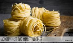 Two minute noodles contain many nasty additives. Here's a recipe to make your own & why to avoid the store bought noodles. #twominutenoodles #additives #foodadditives thefoodwerewolf.com Snack Recipes, Snacks, Savoury Recipes, Unprocessed Food, Noodle Recipes, Noodles, Food To Make, Cabbage, Pasta