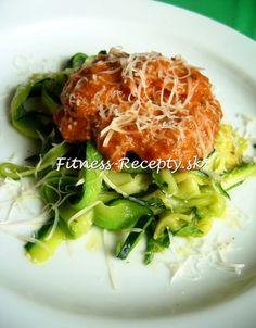 Bezmäsité   Fitness-recepty.sk Spaghetti, Chicken, Meat, Ethnic Recipes, Fitness, Food, Essen, Meals, Yemek