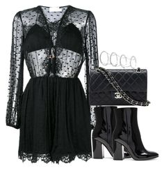 """""""Untitled #3481"""" by theeuropeancloset on Polyvore featuring Zimmermann, Chanel, Gianvito Rossi and Fallon"""
