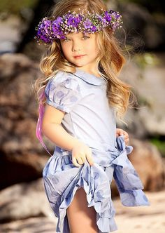 Wearing Lilac and  Flower Crown - Lovely