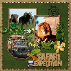 On Safari - MouseScrappers - Disney Scrapbooking Gallery