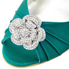 Rhinestone wedding evening shoes decorations, Removable shoe clips.