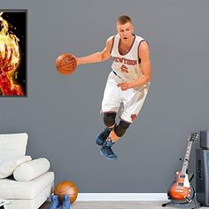NBA New York Knicks NBA Kristaps Porzingis 2015-2016 Realbig, Real Big by Fathead Peel and Stick Decals. NBA New York Knicks NBA Kristaps Porzingis 2015-2016 Realbig, Real Big. Real Big.