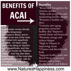Acai berry powder benefits the body in hundreds of ways and has been shown to improve overall health and wellness