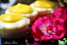 Mini Cheesecake lemon curd no bake Lemon Cheesecake, Lemon Curd, Panna Cotta, Sweets, Baking, Mini, Ethnic Recipes, Desserts, Food