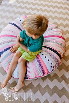 Jellyroll Floor Cushion HoneySweet by sydandstitch on Etsy | Syd and ...