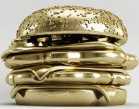 GOLDEN BURGER by Antoni Tudisco, via Behance