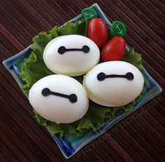 #BigHero6 #Baymax Deviled Eggs. #Disney