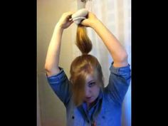 Sock bun. I really want to try this!