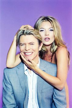 David Bowie with Kate Moss. on separate occasions of course