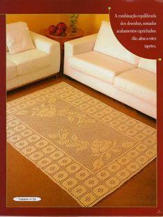 rose filet rug