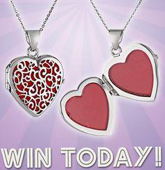 Enter to win an italian heart locket
