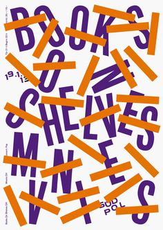 Südpol-Plakate: Books on Shelves / Mnevis, 2013