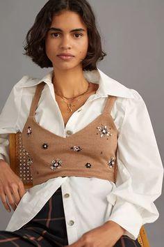 Embellished Knit Bralette | Anthropologie