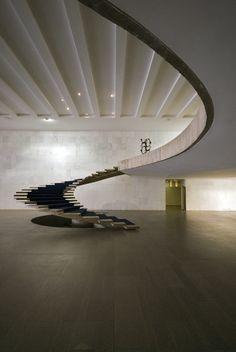Oscar Niemayer, Office of Foreign Affairs, Brazil Architectural design, interior design, #Architecture, House Architecture, #ModernHousePlans, Modern Architecture, Home design, Architecture and design, #lightingdesign, luxury homes