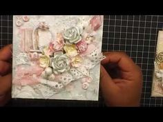 Shabby Chic-ness (Cards and  Embellisments) - WOC - 4 cards /6 little hearts