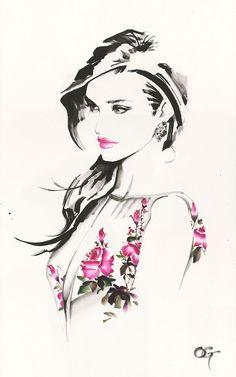 Fashion illustration on ArtLux Designs. - Fashion illustration on ArtLux Designs. Watercolor Fashion, Watercolor Art, Painting Abstract, Acrylic Paintings, Watercolor Illustration, Abstract Landscape, Arte Fashion, Fashion Fashion, Fashion Ideas