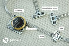 "fabrickit is a collection of wearable electronic modules, or ""bricks"", that make it easy to construct simple or complex wearable projects.Bricks connect to each other with a flexible, 3-wire conductive fabric ribbon. The fabrickit-bricks-and-ribbon approach streamlines the construction of wearable projects, making them more reliable, attractive and ready-to-wear."