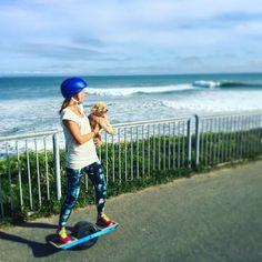 Santa Cruz CA: @nutitandco and @pumpkinthewise #ShredLikeAGirl on a #Onewheel down the #SteamersLane lineup. @RideOnewheel #repost #love #instagood #cute #photooftheday #happy #beautiful #girl #fun #friends #igers #instalike by pumpkinthewise